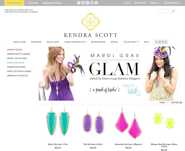 press KS mardi gras glam