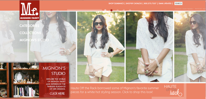 press mignon faget's home page