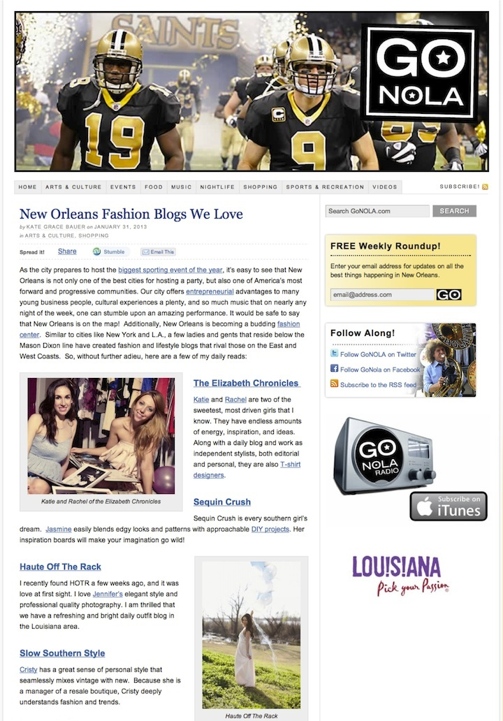 press top 10 nola blogger