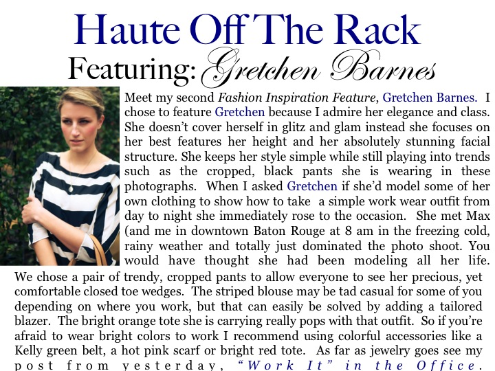 8d5011aa28b Fashion Inspiration Feature  Gretchen Barnes · Haute Off The Rack