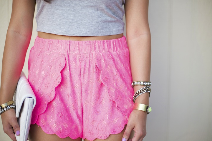 scallop-detailed-shorts