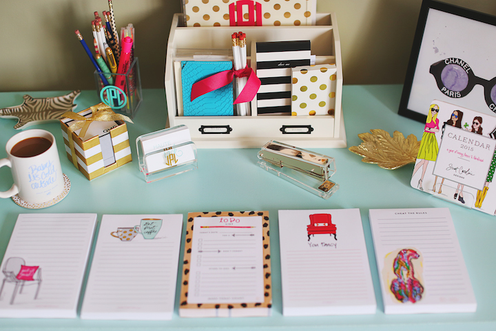 Stocking stuffers for the student working girl haute for How to decorate desk in office