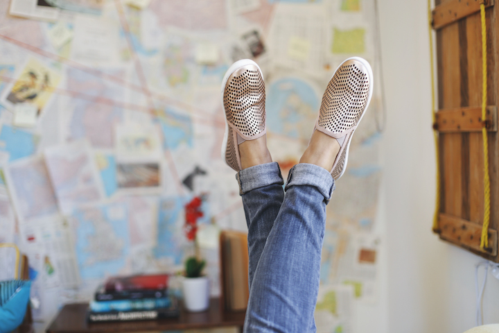 joie rose gold sneakers