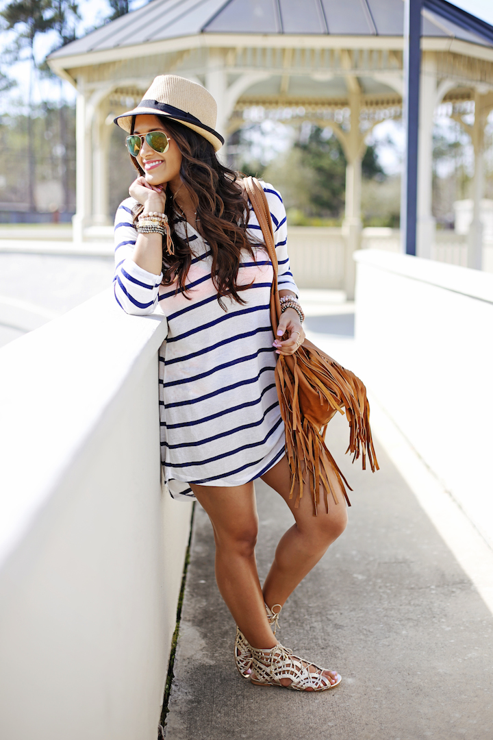 striped coverup