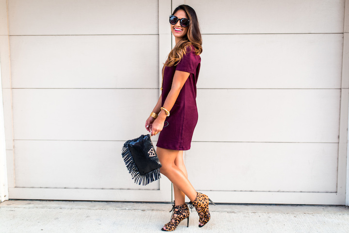 dress with leopard print shoes