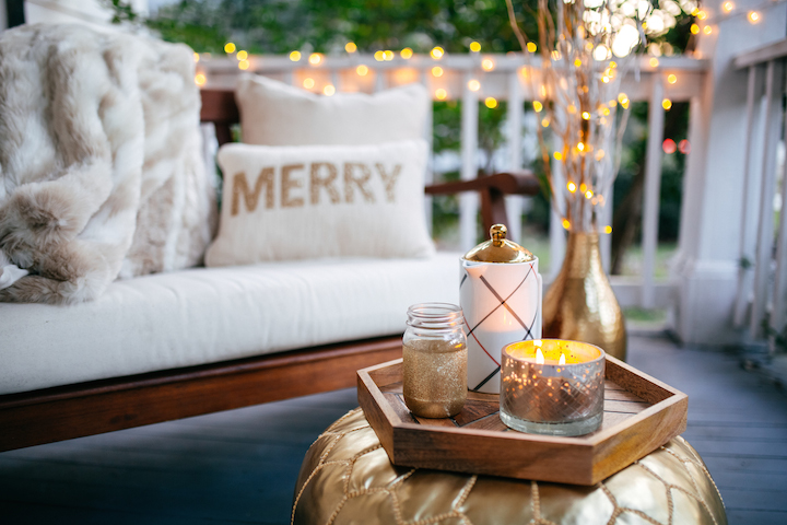 Cozy Front Porch For Christmas Eve 2015 Haute Off The Rack