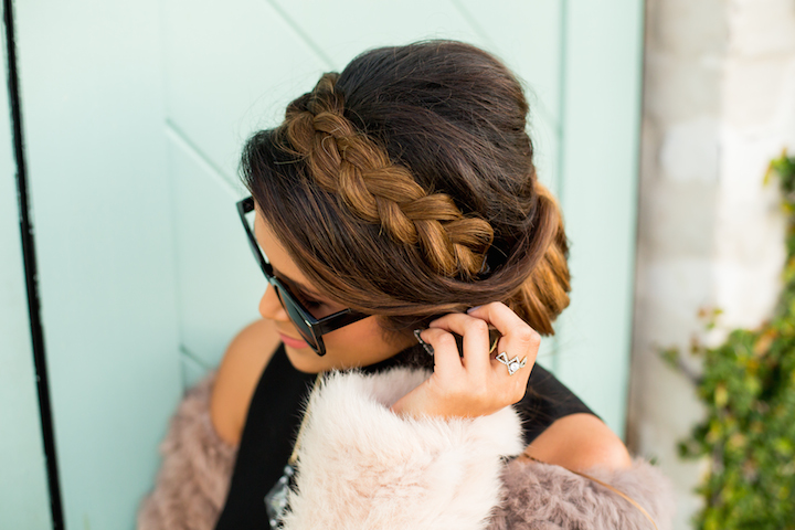 Holiday braided updo hairstyle haute off the rack holiday braided updo hairstyle pmusecretfo Images