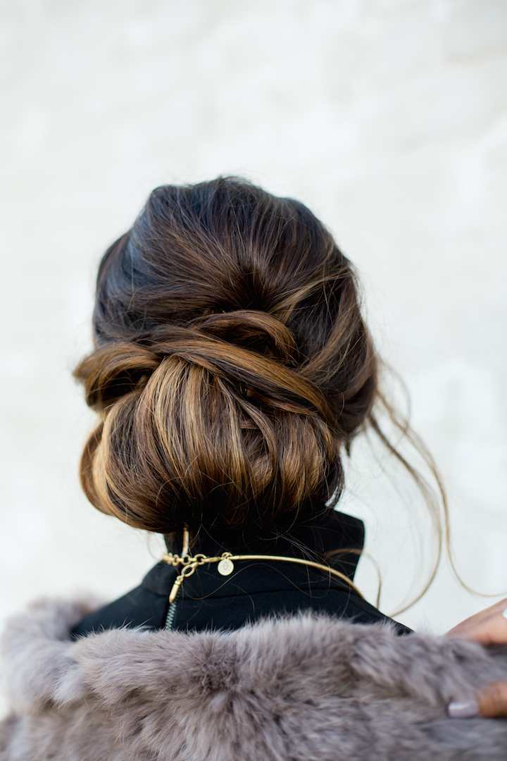 Holiday braided updo hairstyle haute off the rack holiday updos pmusecretfo Images