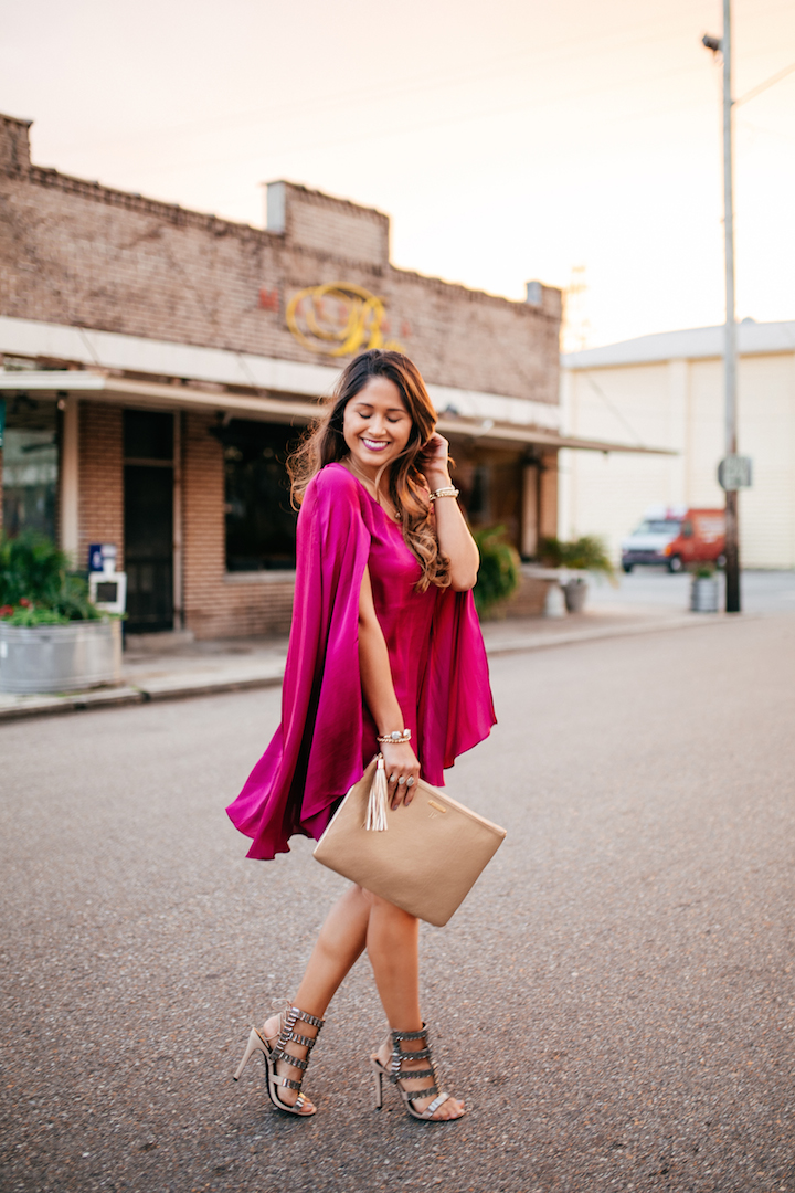 pink-cape-dress