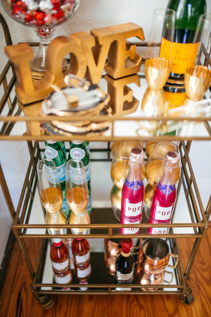 How To Decorate Your Bar Cart