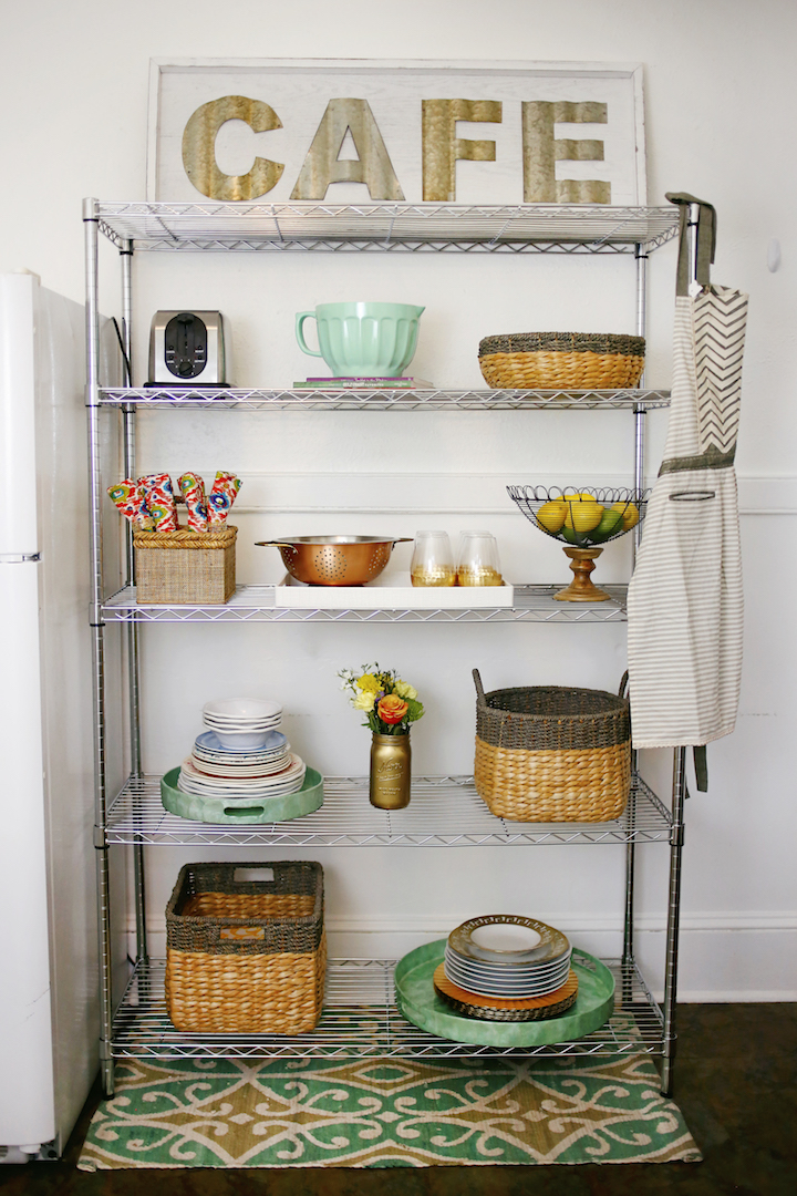 rack for kitchen storage storage display ideas for small spaces 183 haute the rack 4483
