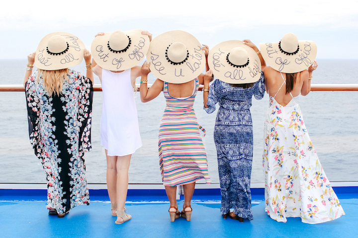 How adorable are these floppy sun hats with fun phrases embroidered on them! de935edbd59