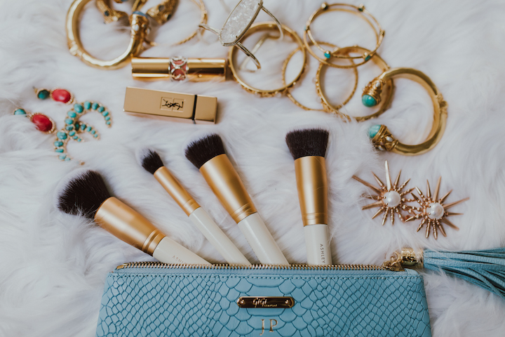 gold-make-up-brushes