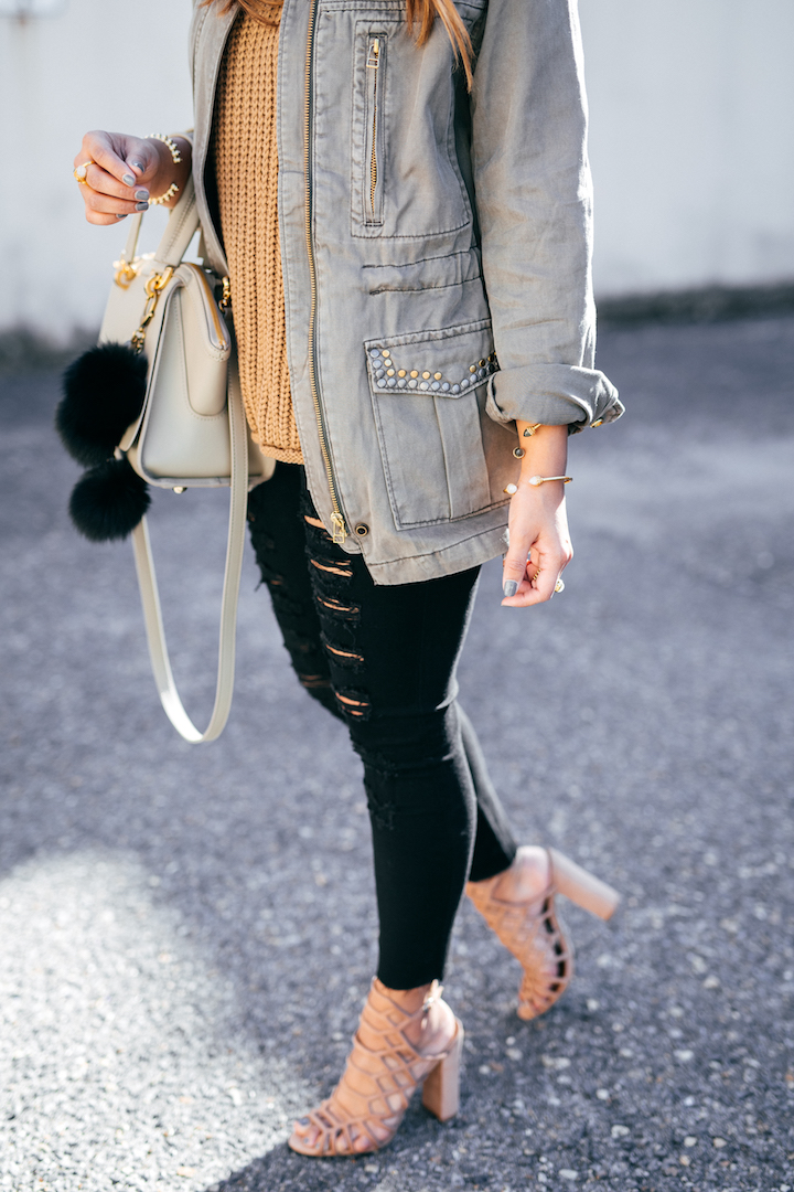 Distressed Jeans Nude Heels 183 Haute Off The Rack