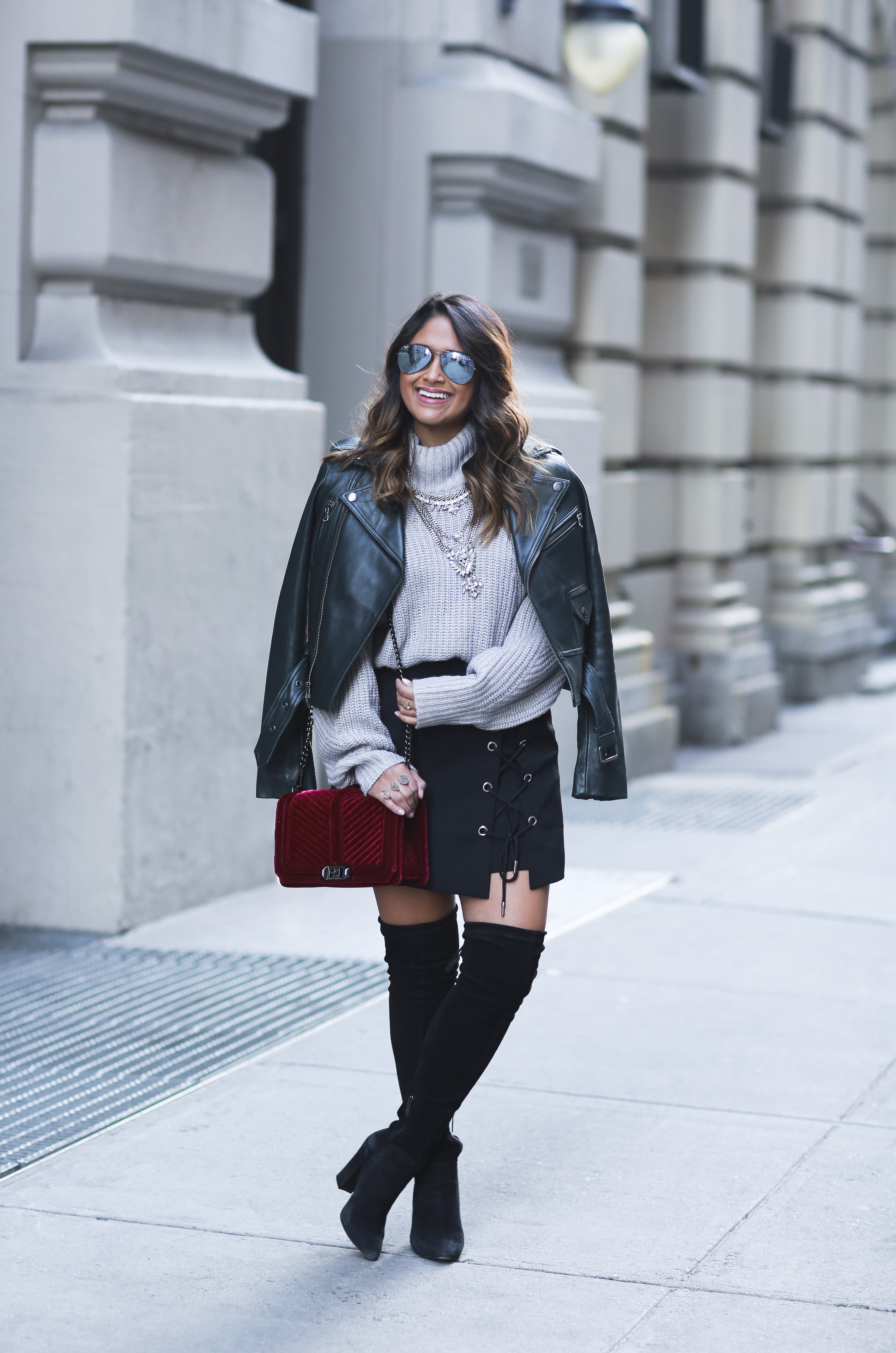 Lace Up Skirt Over The Knee Boots 183 Haute Off The Rack