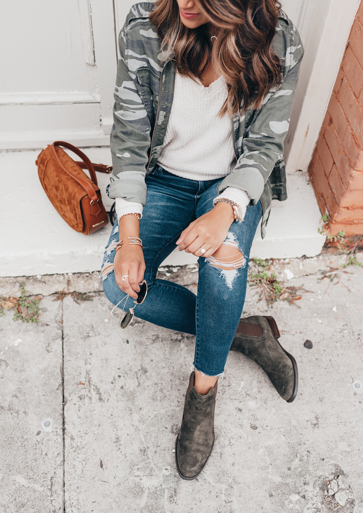 How To Style Olive Booties - Haute Off