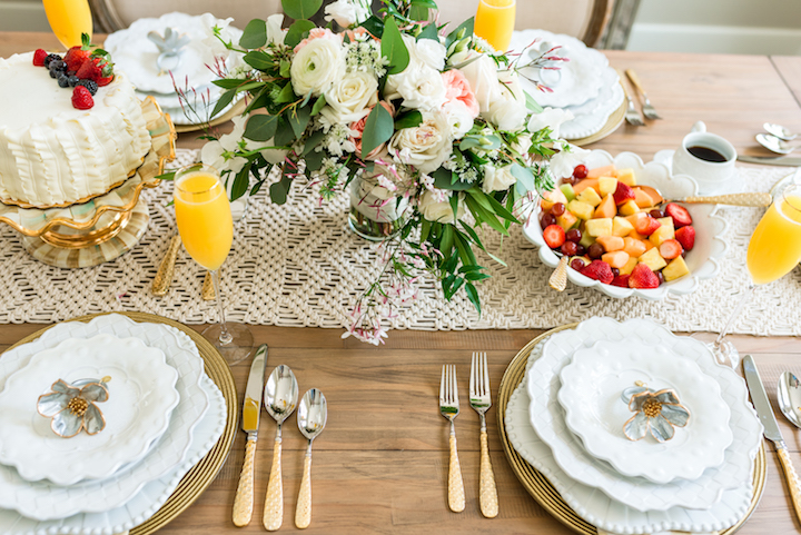Shop My Bridal Brunch Table Setting | & Bridal Brunch Table Setting with MacKenzie-Childs · Haute Off The Rack
