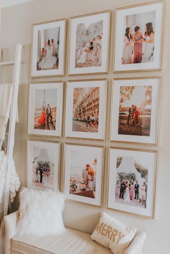 金框照片墙组合
