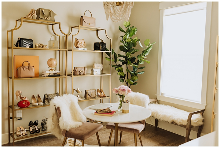 Spare Bedroom Transformed Into Glam Office Haute Off The