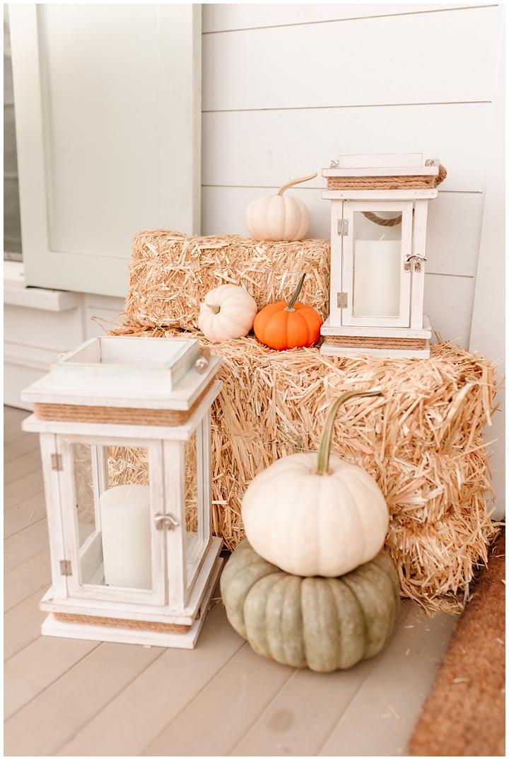 front porch pumpkins