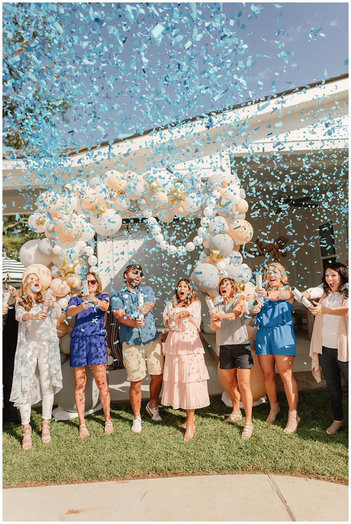 baby gender reveal party confetti cannons