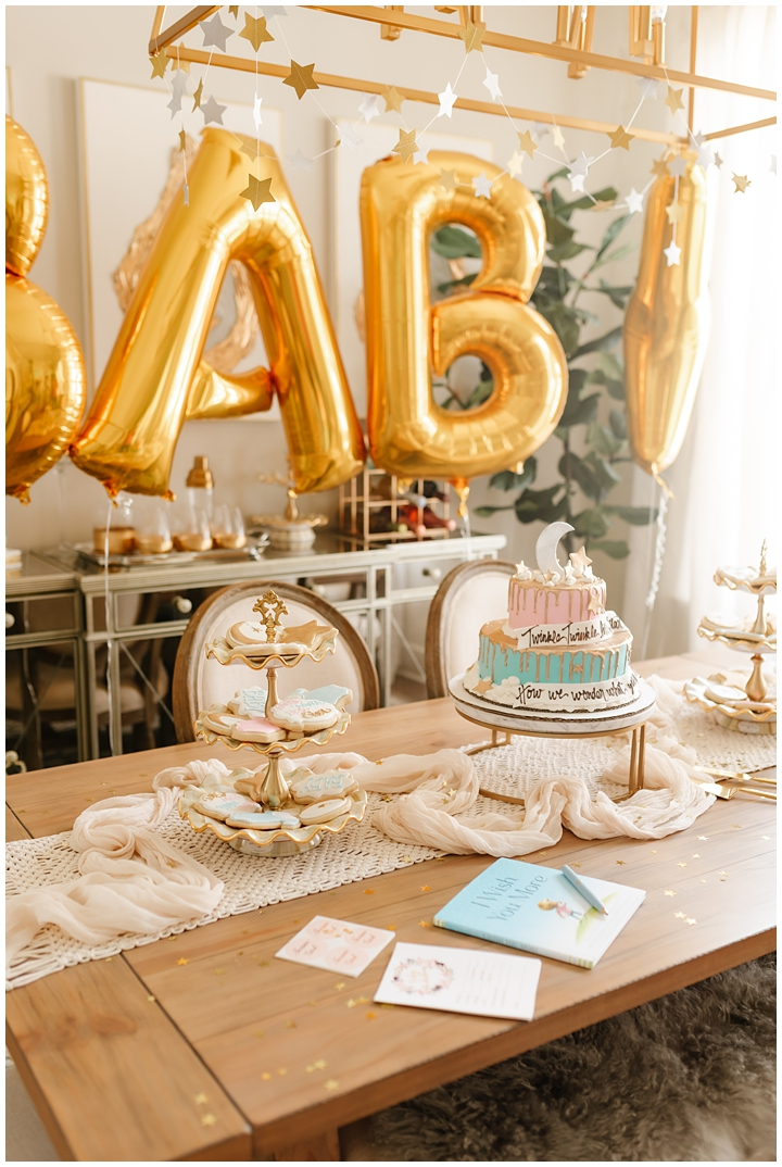Baby gender reveal party decor