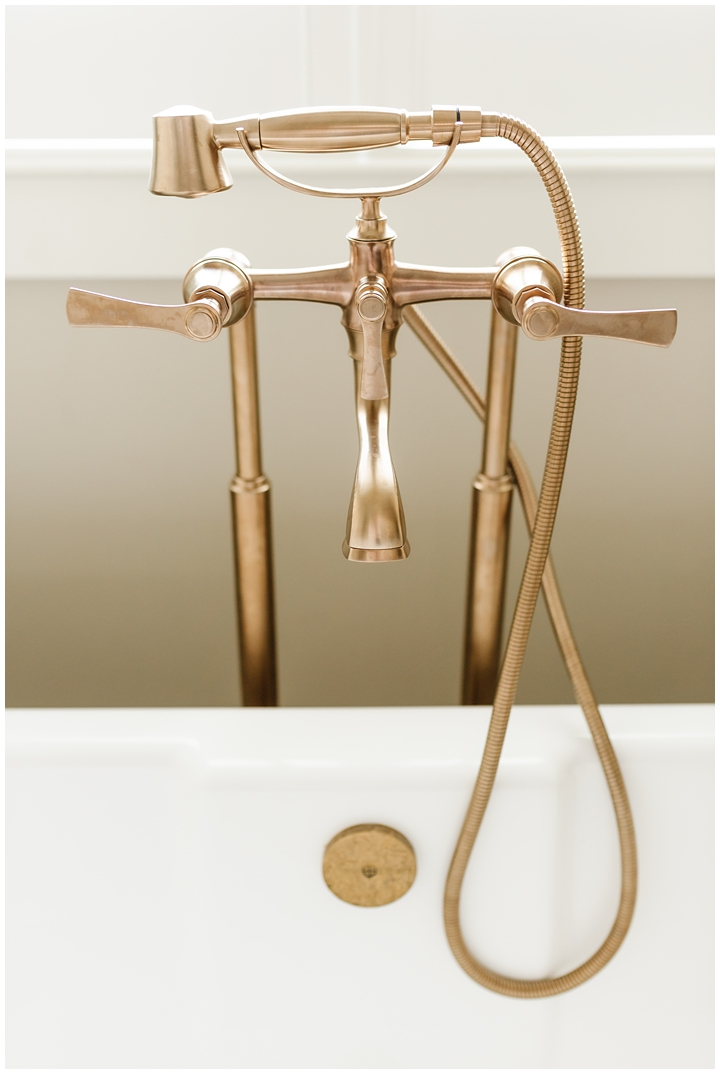 gold tub filler