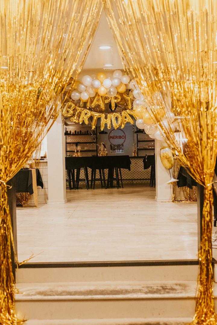 gold foil curtains