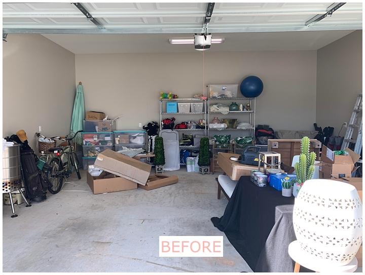 messy garage