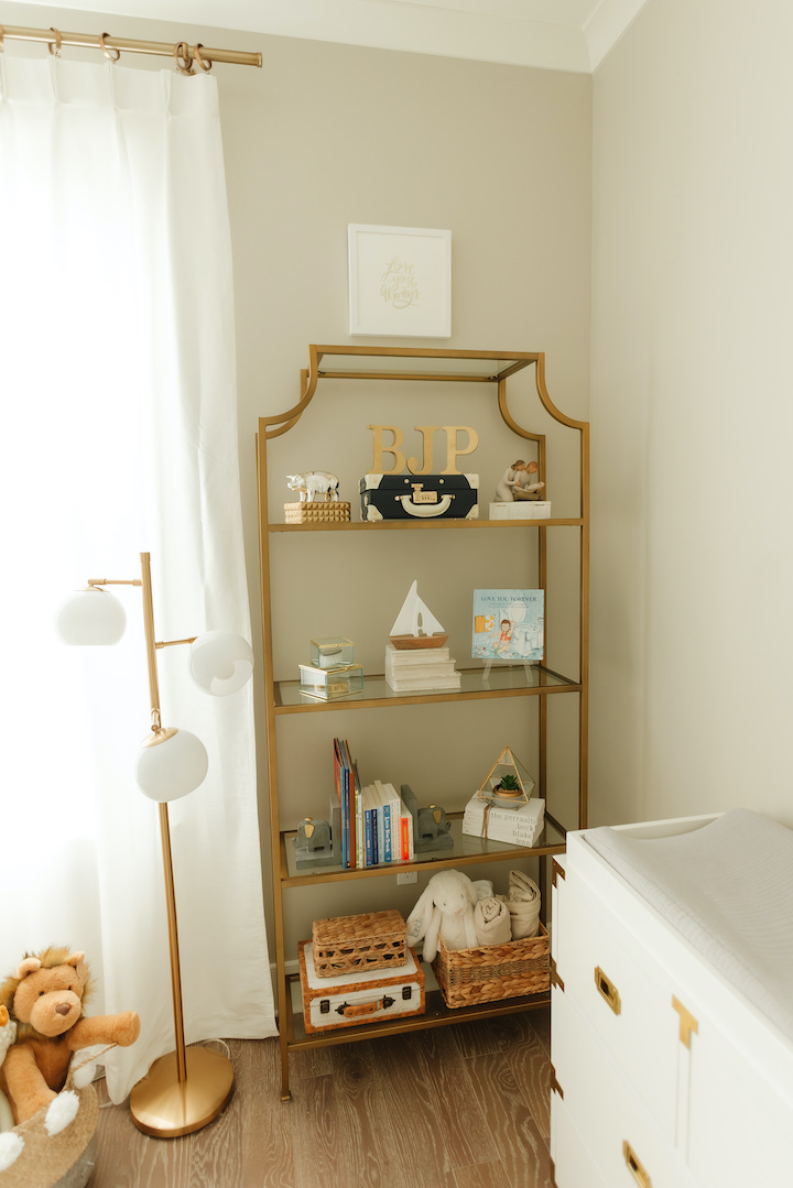 gold book shelf