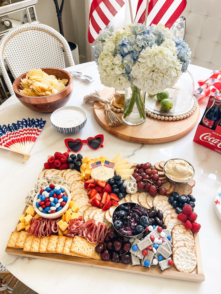 4th of july cheeseboard